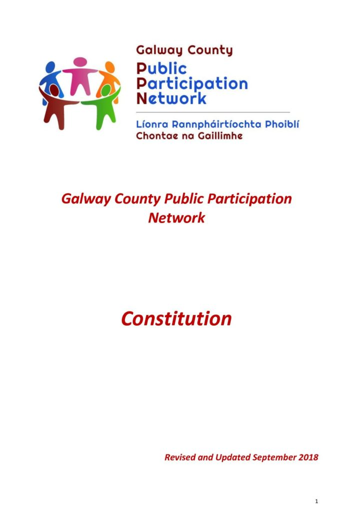 Galway County PPN Constitution