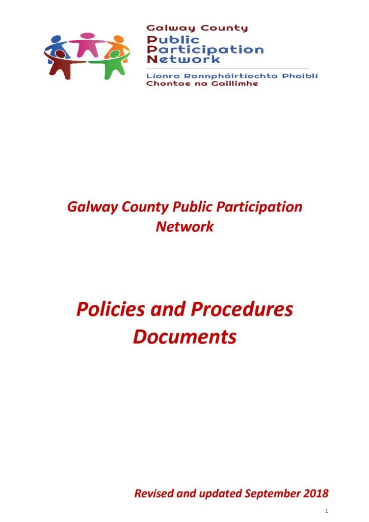Galway County PPN Policies and Procedures